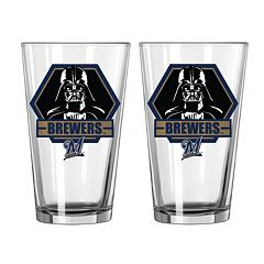 Boelter Milwaukee Brewers Star Wars Darth Vader 2-Pack Pint Glasses