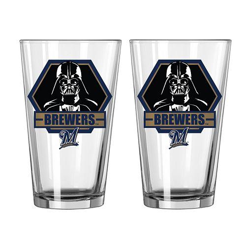 Boelter Milwaukee Brewers Star Wars Darth Vader 2-Pack Pint Glasses