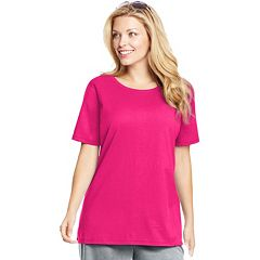 Plus Size Just My Size Solid Crewneck Tee