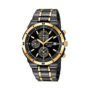 Seiko Stainless Steel Two-Tone Chronograph Watch - Men