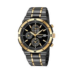Seiko Men's Two Tone Stainless Steel Chronograph Watch - SNAA30