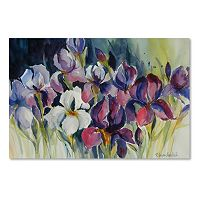 Trademark Fine Art White Iris Canvas Wall Art