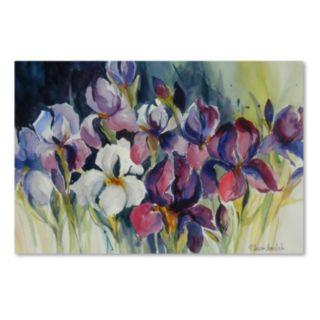 Trademark Fine Art White Iris Canvas Wall Art