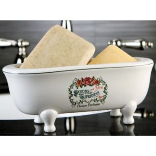 Savons Aux Fleurs Double Ended Claw Foot Tub Soap Dish