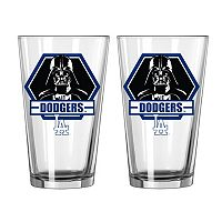 Boelter Los Angeles Dodgers Star Wars Darth Vader 2-Pack Pint Glasses