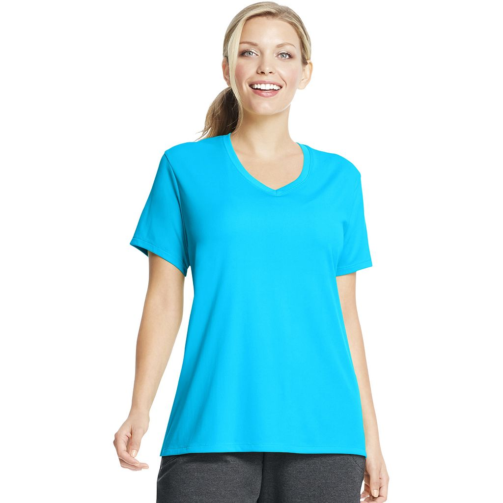 Plus Size Just My Size Cool Dri Performance V-Neck Tee