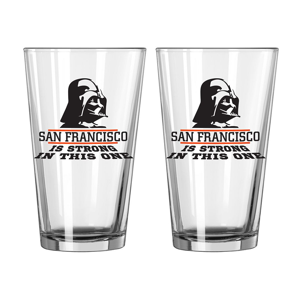 Boelter San Francisco Giants Star Wars Darth Vader 2-Pack Pint Glasses