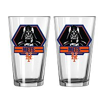 Boelter New York Mets Star Wars Darth Vader 2-Pack Pint Glasses