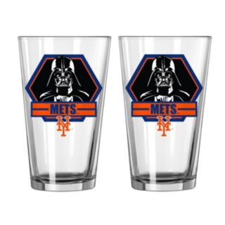 Boelter New York Mets Star Wars Darth Vader 2-Pack Pint Glasses