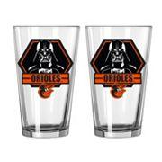 Boelter Baltimore Orioles Star Wars Darth Vader 2-Pack Pint Glasses