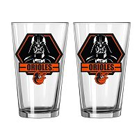 Boelter Baltimore Orioles Star Wars Darth Vader 2-Pack Pint Glasses