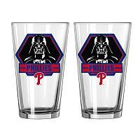 Boelter Philadelphia Phillies Star Wars Darth Vader 2-Pack Pint Glasses