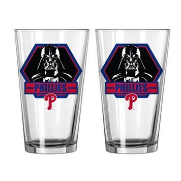 Boelter Philadelphia Phillies Star Wars Darth Vader 2-Pack Pint Glasses