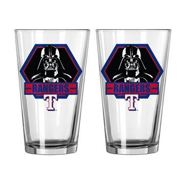 Boelter Texas Rangers Star Wars Darth Vader 2-Pack Pint Glasses