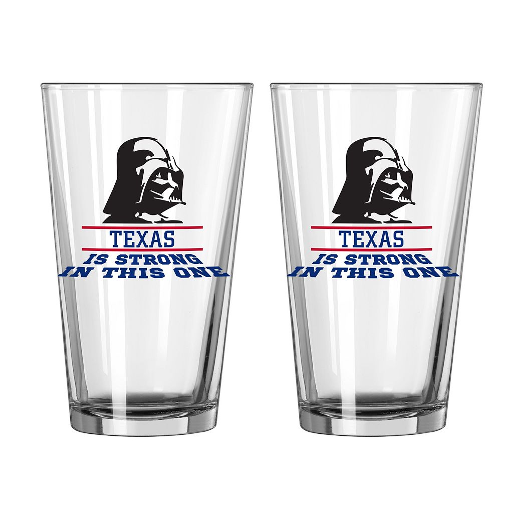 Boelter Texas Rangers Star Wars Darth Vader 2-Pack Pint Glasses