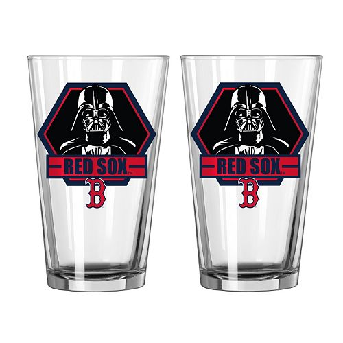 Boelter Boston Red Sox Star Wars Darth Vader 2-Pack Pint Glasses