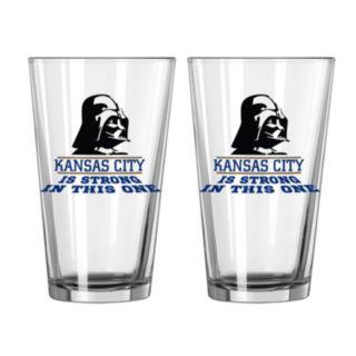 Boelter Kansas City Royals Star Wars Darth Vader 2-Pack Pint Glasses