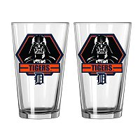 Boelter Detroit Tigers Star Wars Darth Vader 2-Pack Pint Glasses