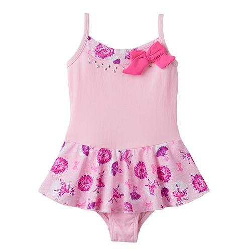 Toddler Girl Jacques Moret Glitter Ballerina Cami Skirtall Leotard