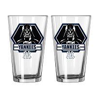 Boelter New York Yankees Star Wars Darth Vader 2-Pack Pint Glasses
