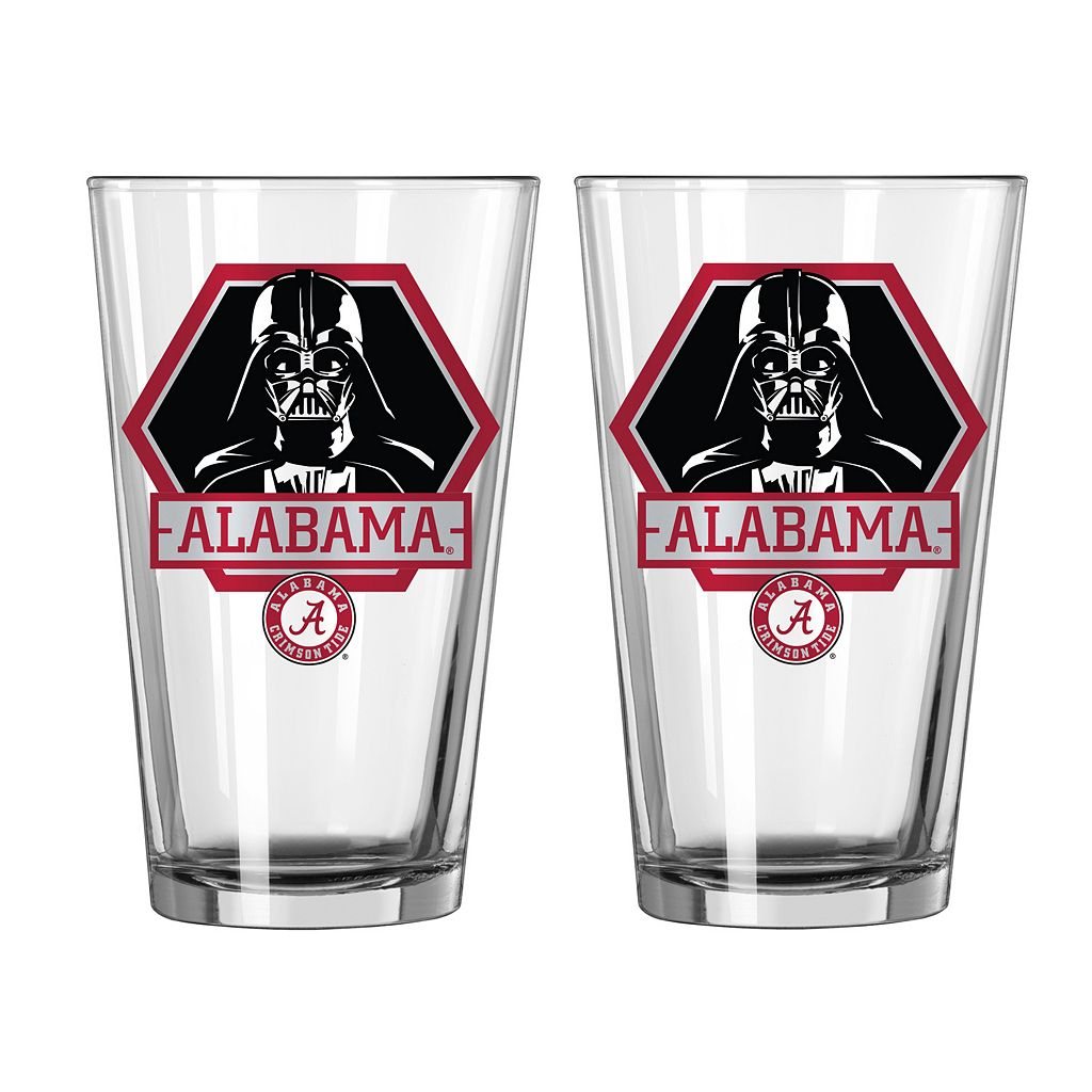 Boelter Alabama Crimson Tide Star Wars Darth Vader 2-Pack Pint Glasses