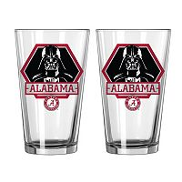 Boelter Alabama Crimson Tide Star Wars Darth Vader 2-Pack Pint Glasses