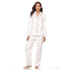 Petite Croft & Barrow® Pajamas: Minky Fleece PJ Set