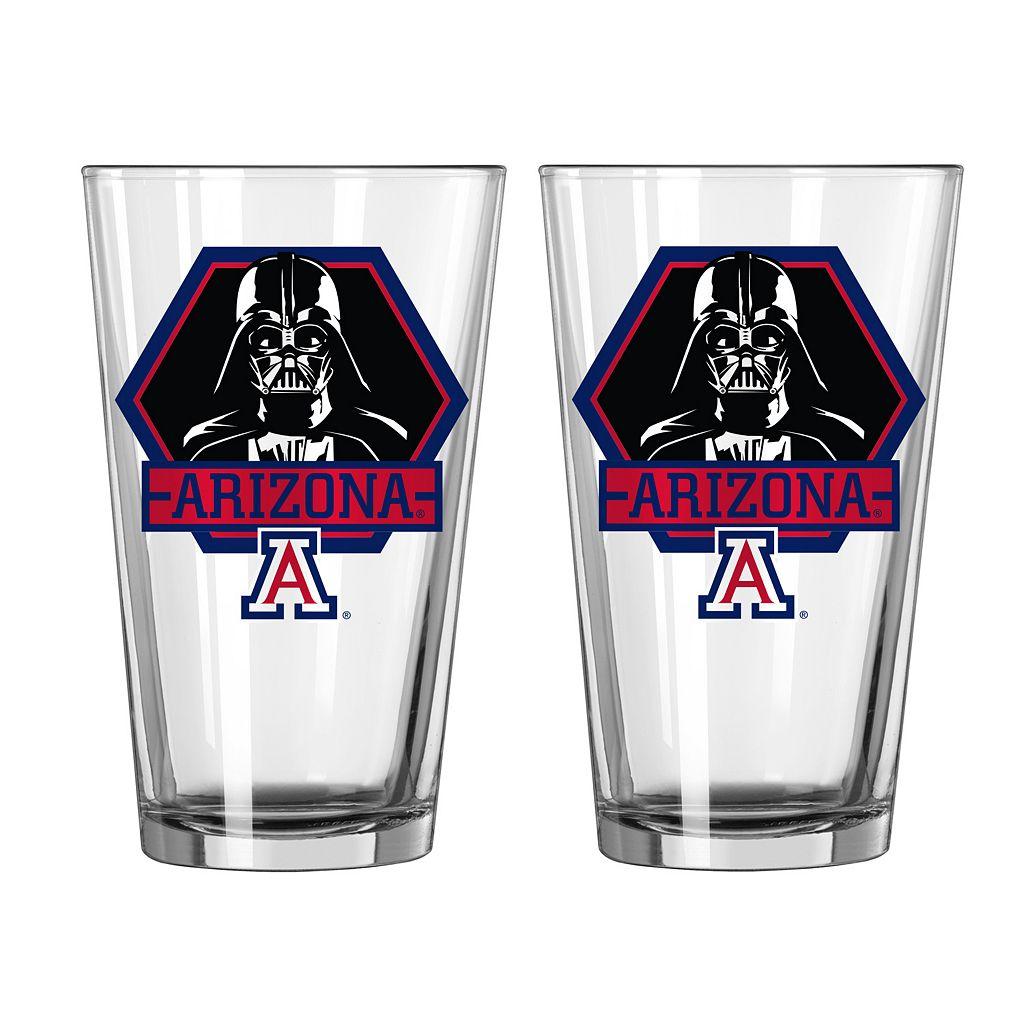 Boelter Arizona Wildcats Star Wars Darth Vader 2-Pack Pint Glasses