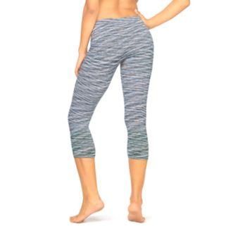 Women's Colosseum Space-Dye Seamless Capri Workout Leggings