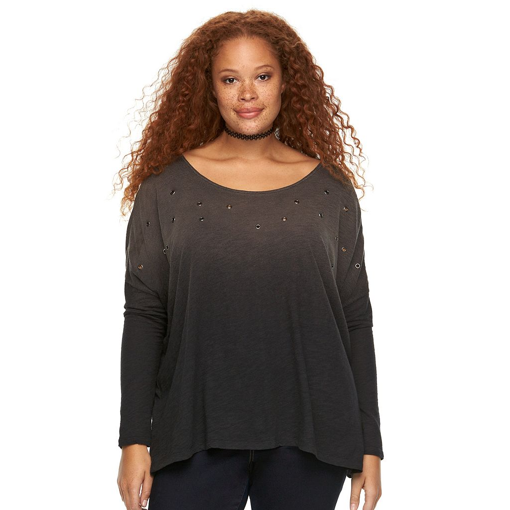 Plus Size Rock & Republic® Ombre Dolman Top