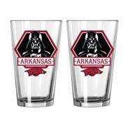 Boelter Arkansas Razorbacks Star Wars Darth Vader 2-Pack Pint Glasses