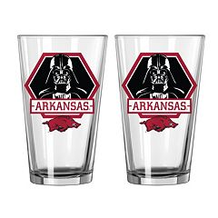 Boelter Arkansas Razorbacks Star Wars Darth Vader 2-Pack Pint Glasses