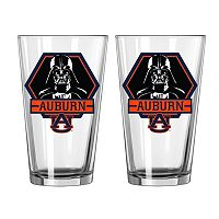 Boelter Auburn Tigers Star Wars Darth Vader 2-Pack Pint Glasses