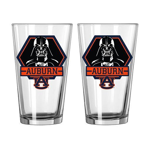 Boelter Auburn Tigers Star Wars Darth Vader 2-Pack Pint Glasses