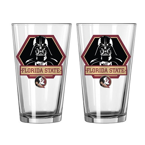 Boelter Florida State Seminoles Star Wars Darth Vader 2-Pack Pint Glasses