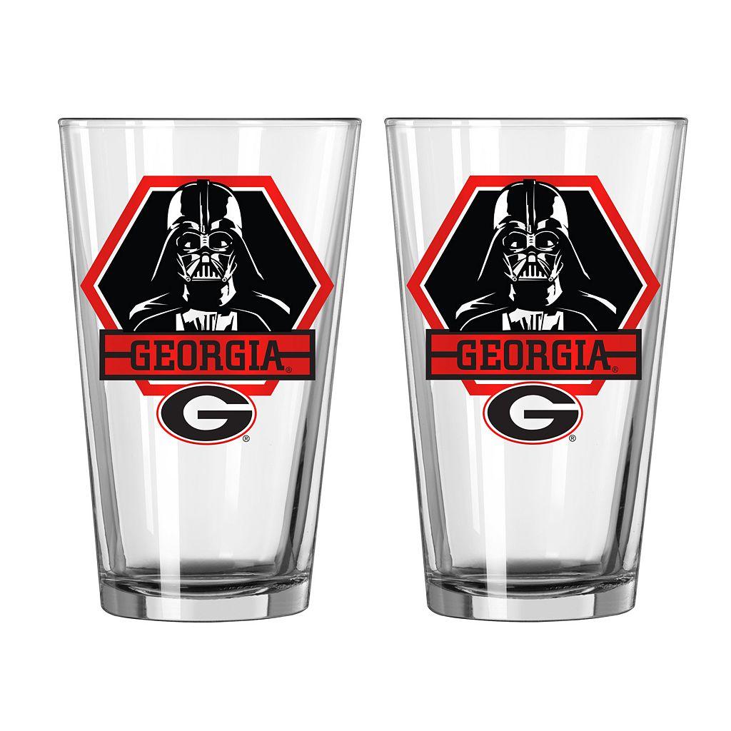 Boelter Georgia Bulldogs Star Wars Darth Vader 2-Pack Pint Glasses