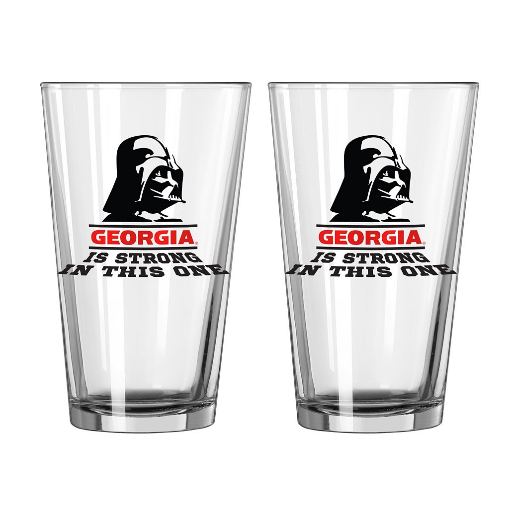 Boelter Georgia Bulldogs Star Wars Darth Vader 2-Pack Pint Glasses