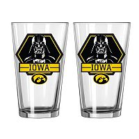 Boelter Iowa Hawkeyes Star Wars Darth Vader 2-Pack Pint Glasses