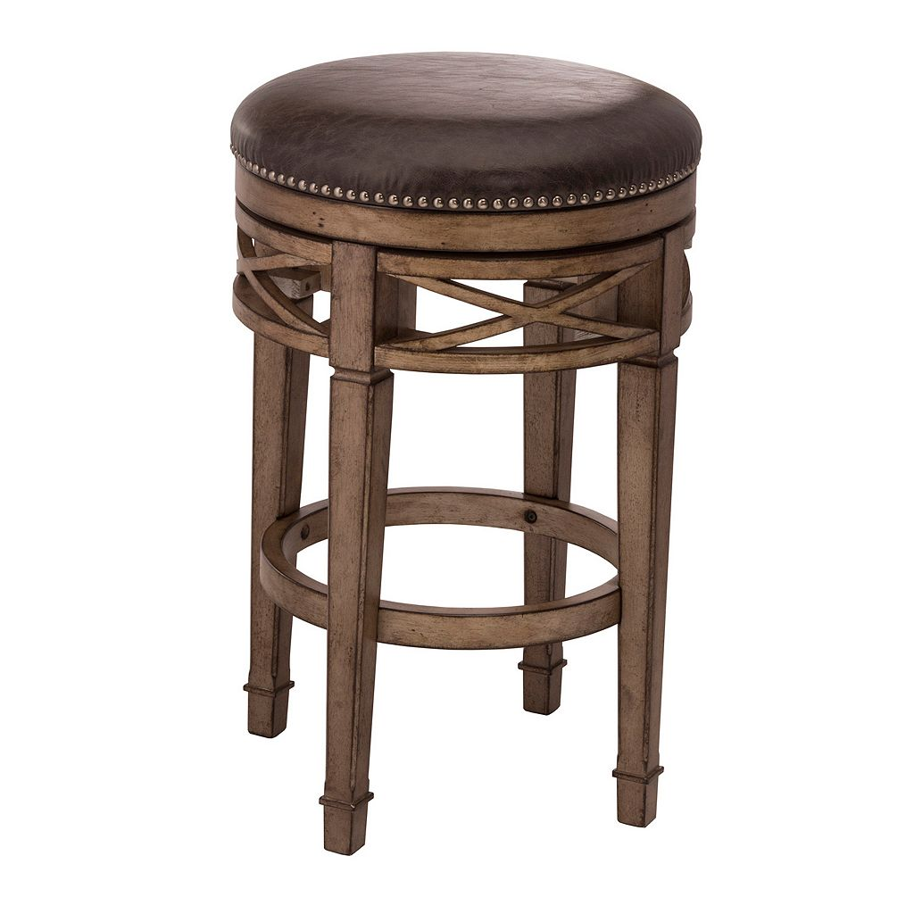 Hillsdale Furniture Chesterfield Backless Swivel Counter Stool
