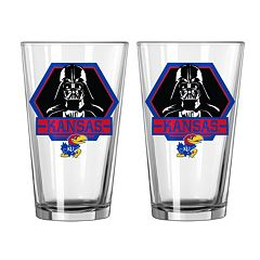 Boelter Kansas Jayhawks Star Wars Darth Vader 2-Pack Pint Glasses
