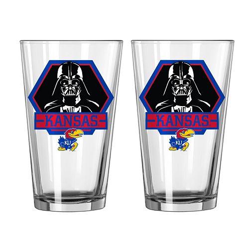 Boelter Kansas Jayhawks Star Wars Darth Vader 2-Pack Pint Glasses
