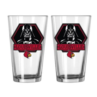 Boelter Louisville Cardinals Star Wars Darth Vader 2-Pack Pint Glasses