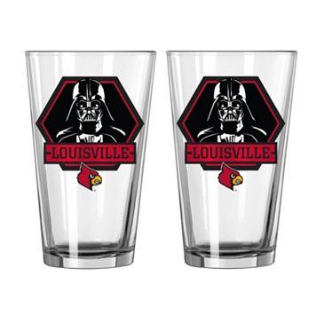 Boelter Louisville Cardinals Star Wars Darth Vader 2-Pack Pint Glasses