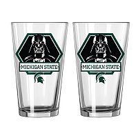 Boelter Michigan State Spartans Star Wars Darth Vader 2-Pack Pint Glasses