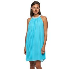 Women's Sharagano Pleated Chiffon Dress
