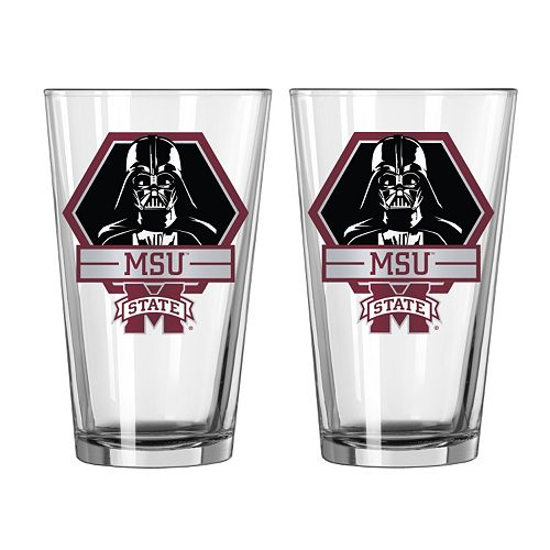 Boelter Mississippi State Bulldogs Star Wars Darth Vader 2-Pack Pint Glasses