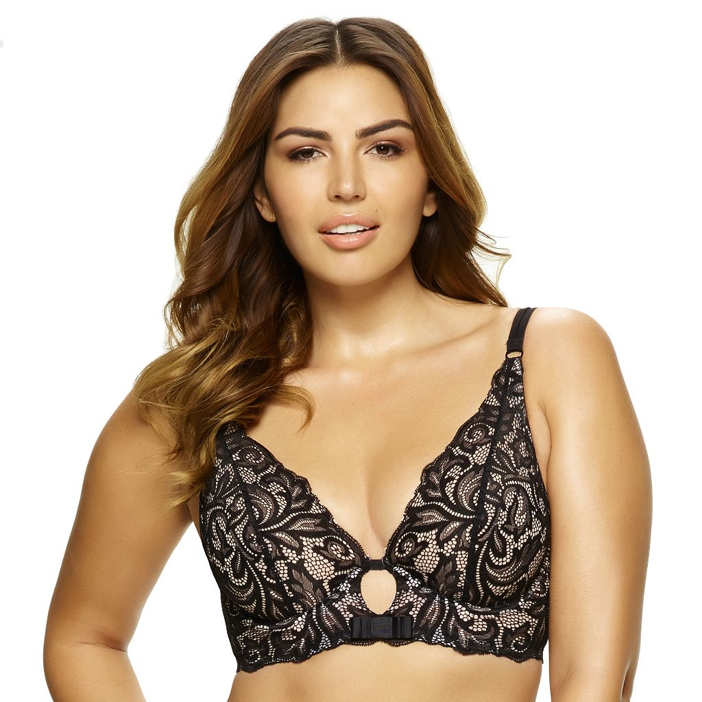Paramour by Felina Bra: Sophia Unlined Full-Figure Long-Line Plunge Bra 375021