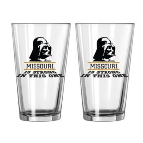 Boelter Missouri Tigers Star Wars Darth Vader 2-Pack Pint Glasses