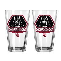 Boelter Oklahoma Sooners Star Wars Darth Vader 2-Pack Pint Glasses