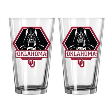 Boelter Oklahoma Sooners Star Wars Darth Vader 2-Pack Pint Glasses